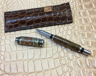 Cigar Band Pen, Real tobacco leaf, Cigar lovers gift