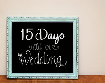 Blue Chalkboard Sign/ Chalkboard Sign/ Chalkboard/ Wedding