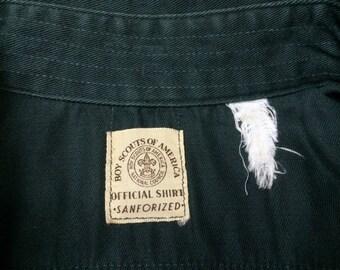 Vintage SANFORIZED 50s 60s Boy Scout America Official Shirt