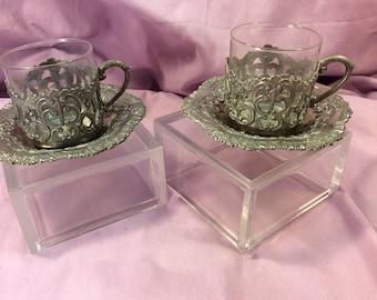 Raimond Glass and saucer set