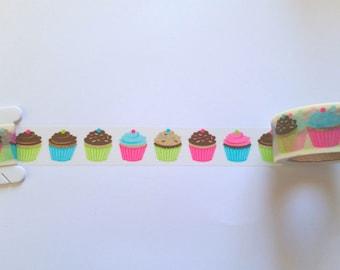Cupcakes Washi Tape // Sample // Item #WT045