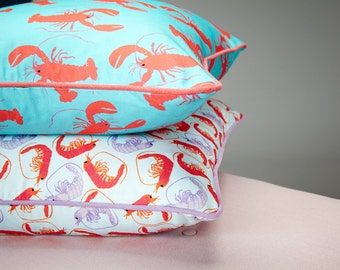 Lobster Pattern Cushion