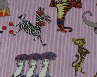"""22"""" Madagascar 3 Circus Friends Purple fabric Remnant/End of Bolt 1319"""