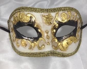 Devil Mask! Venetian Masquerade Mask with Fringe. Masked Ball Mask.