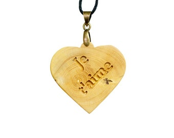 Heart pendant boxwood (I love you)