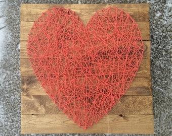 Large Heart String Art