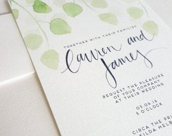Eucalyptus Wedding Invite/Rsvp Set