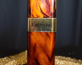 1971 Emeraude Tortoise Spray Parfum de Toilette, Coty NY - Vintage Perfume Bottle 70's