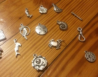 Build your own pirate necklace