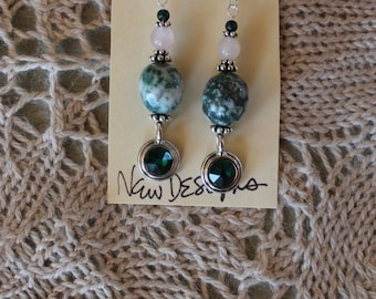 Tree Agate Dangle Earrings