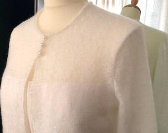 bridal jacket mohair ivory