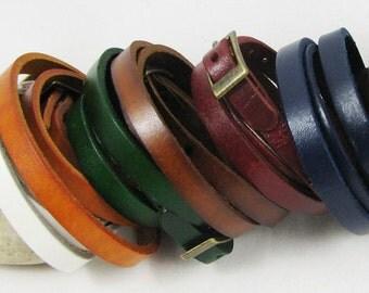 Bracelet cuir 3 tours couleur au choix - leather bracelet