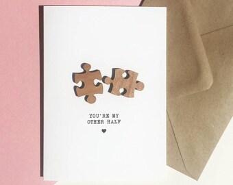 Jigsaw Pieces Love Card