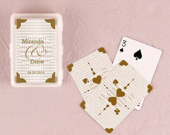 Set of 12 Playing Card Wedding Favor - Playing Cards- Bridal Shower Favor - Personalized Party Favors - Personalized Playing Cards Favor