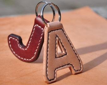 Handmade Genuine Leather 'Initial' Keyring
