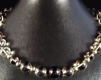 Citrine quartz necklace Champange.