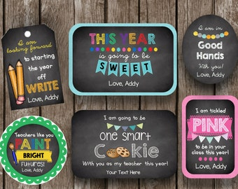 50% OFF SALE Teacher Gifts - Back to School - Thank You Gifts - Editable - Instant Download - Printable - Custom