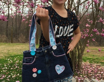 Baby blue hello kitty little girls bag