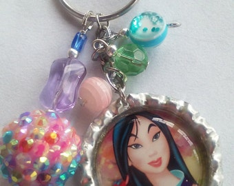 Princess Key Chains, Disney Key Chains, Elsa, Cinderella, Snow White, Ariel, Fairytale Accessories