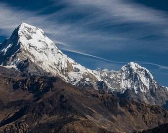 Nature photography, Fine Art Print,Mountains of Nepal, Wall Art, Travel Photography, Maadat, Himalayas, Annapurna,4x6,8x12,12x18,16x24,20x30