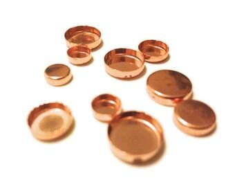 Copper Bezel Cup 10mm
