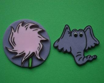 12 Dr. Seuss Horton Hears A Who Cupcake Toppers-Fondant