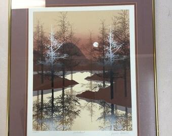 "James Hagen numbered and signed print""Lakehurst"""