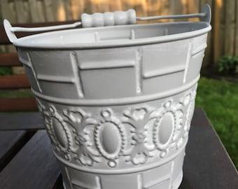 Rustic flower girl basket