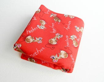 Cat Berry Mice Robert Kaufman Fabrics