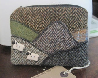 Harris Tweed Landscape purse (earthy tones) - Made to Order