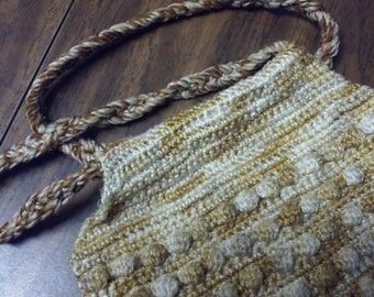 POPCORN STITCH HANDBAG by Joan,preowned,Crochet handbag,Crochet purse,Vintage