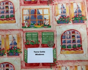 Terra Cotta Windows - 2 Yards