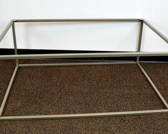 Metal Table Base 42x28x16.5 - Coffee Table, Steel, Modern, Industrial, Satin Nickel, Occasional, Legs