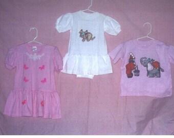 2 Toddler Dresses and 1 Tee Shirt