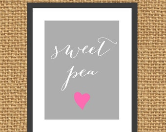 Sweet Pea Print