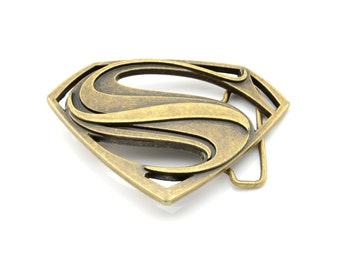 Bronze Superman Belt Buckle
