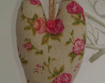 Floral fabric heart