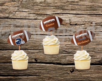 Denver Broncos Cupcake Toppers, Broncos Cupcake Toppers, Broncos Birthday Party, Broncos Party,NFL Party, NFL Birthday,Instant Printable