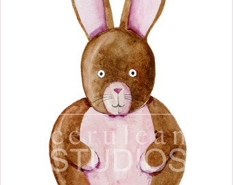 Nursery Bunny Print, Nursery watercolor, Nursery prints, Woodland Nursery, Nursery Wall Art, Nursery Art print, Nursery Decor Animals