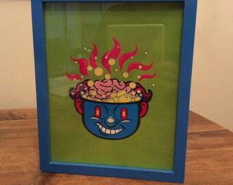 """Digital Illustration """" Hot Head """" 8.5 x 11"""