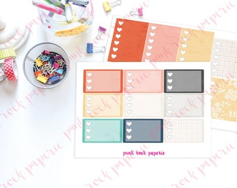 Endless Summer Collection - Check List Full and Half Box Planner Stickers