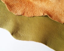 Lime Yellow Green Leather, Leather Pieces, Yellow Green Leather Cow Hide Leather Skin, Genuine Italian Leather Piece, 1.5mm 4 Oz Thickness