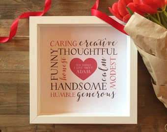 Personalised LOVE Frame