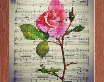 Second Hand Rose, Printable Wall Art, Song, Music, Art, Digital Art, Inspirational, Motivational, Instant Digital Download,