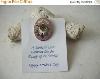 ON SALE Vintage Cloisonne Mothers Stick Pin 92116