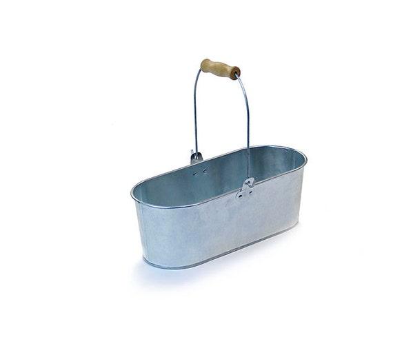 Galvanized bucket metal planter metal tin pail farmhouse for Metal bucket planter