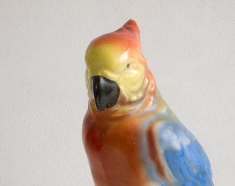 Vintage parrot hat pin holder