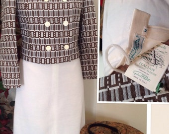 Deadstock 60s Made in Italy Dress Suit size 12 best fit 9/10