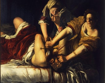 Judith Beheading Holofernes by Caravaggio, painted in 1598–99 POSTER Artemisia Gentileschi