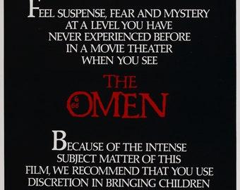 The Omen 1976 Thriller/Cult Movie POSTER Richard Donner Gregory Peck